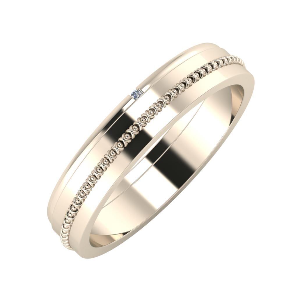 Adalind - Afrodita 4mm 22 karátos rosé arany karikagyűrű