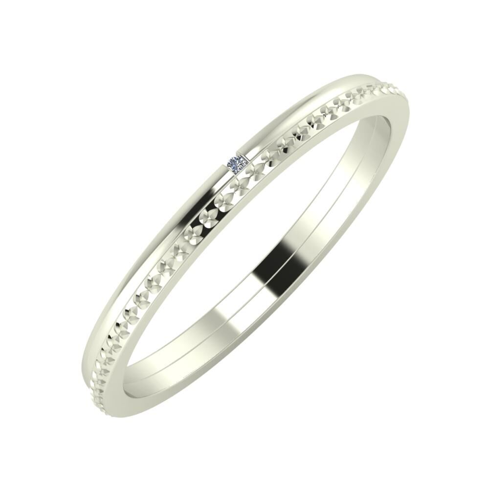 Adalind - Ági 2mm 14 karátos fehér arany karikagyűrű