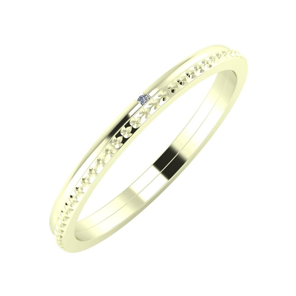 Adalind - Ági 2mm 22 karátos fehér arany karikagyűrű