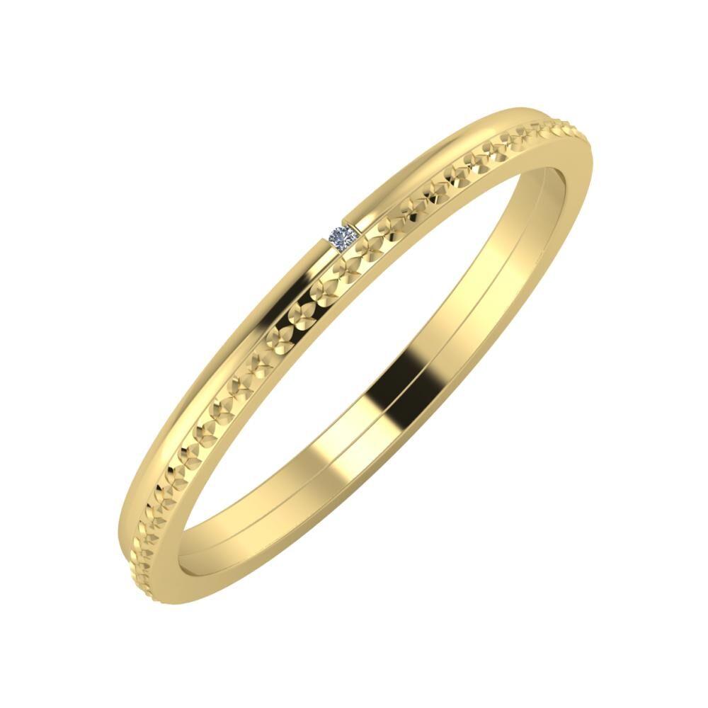 Adalind - Ági 2mm 14 karátos sárga arany karikagyűrű