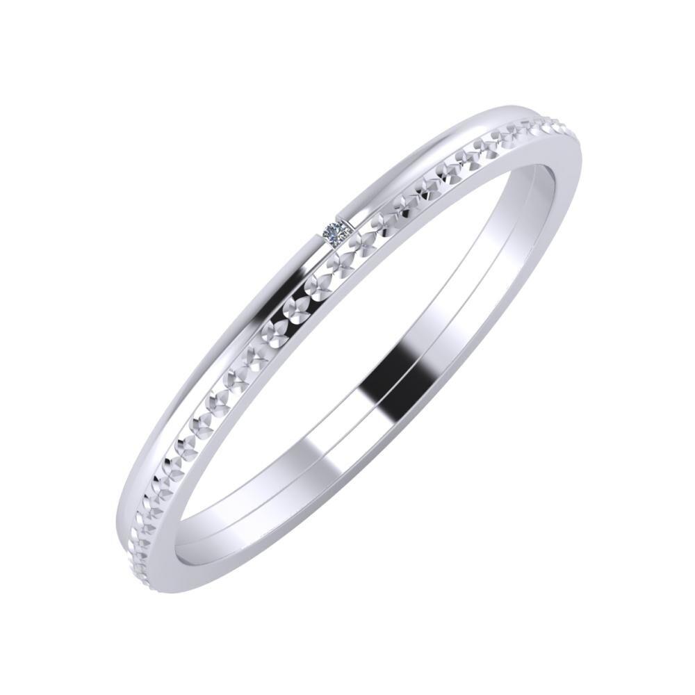 Adalind - Ági 2mm platina karikagyűrű
