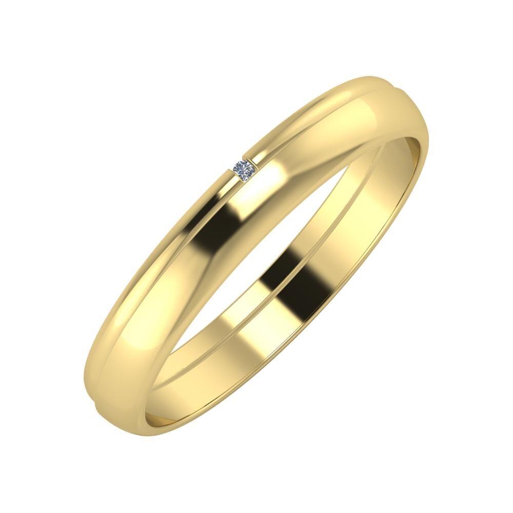 Adalind - Ágosta 3mm 14 karátos sárga arany karikagyűrű