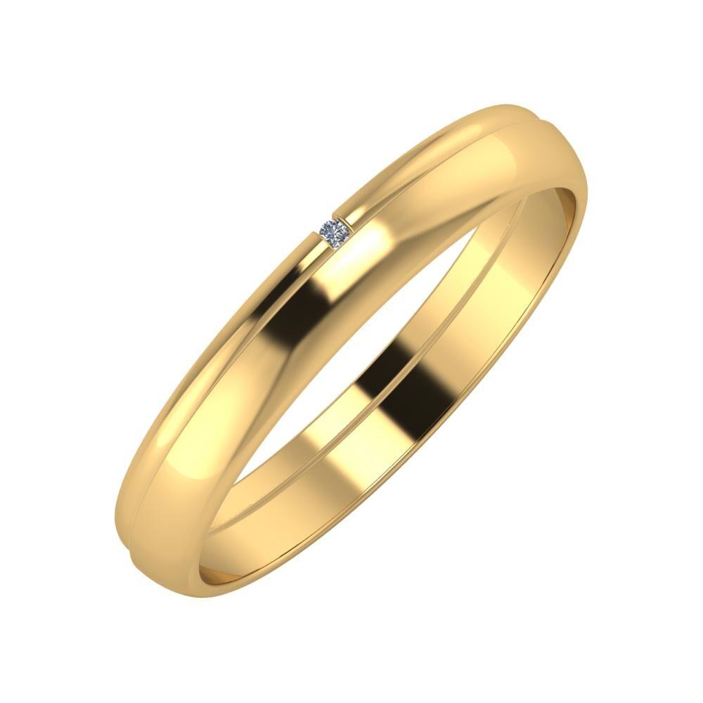 Adalind - Ágosta 3mm 22 karátos sárga arany karikagyűrű