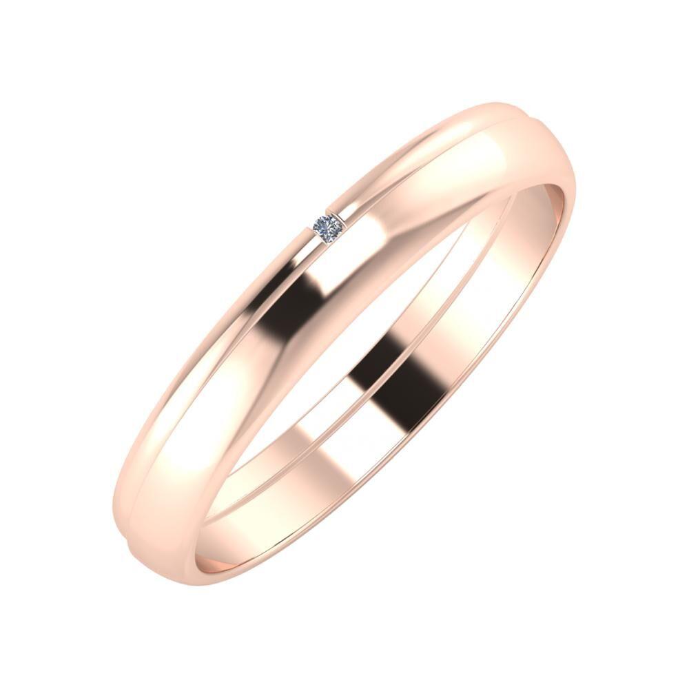 Adalind - Ágosta 3mm 14 karátos rosé arany karikagyűrű