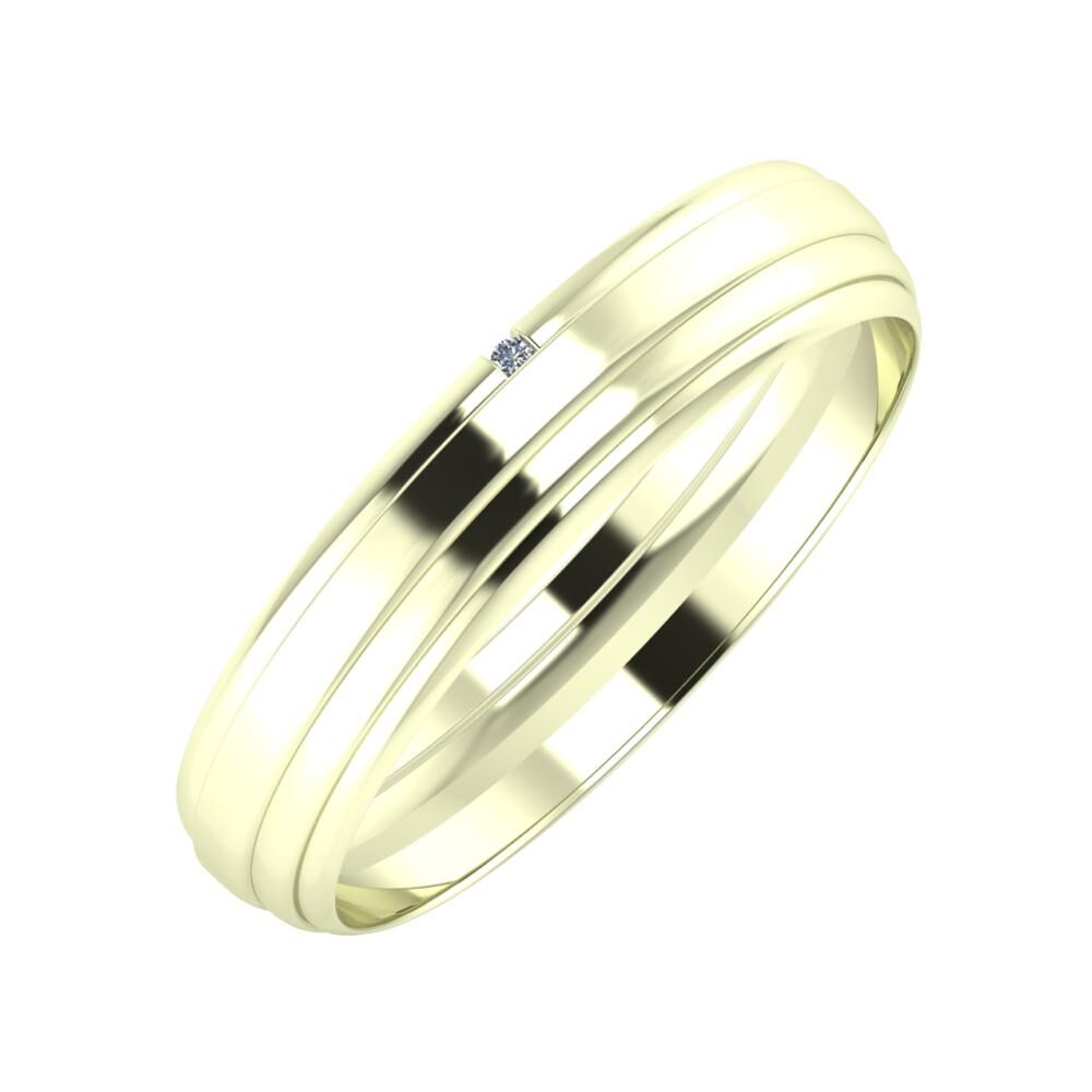 Adalind - Aina 4mm 22 karátos fehér arany karikagyűrű