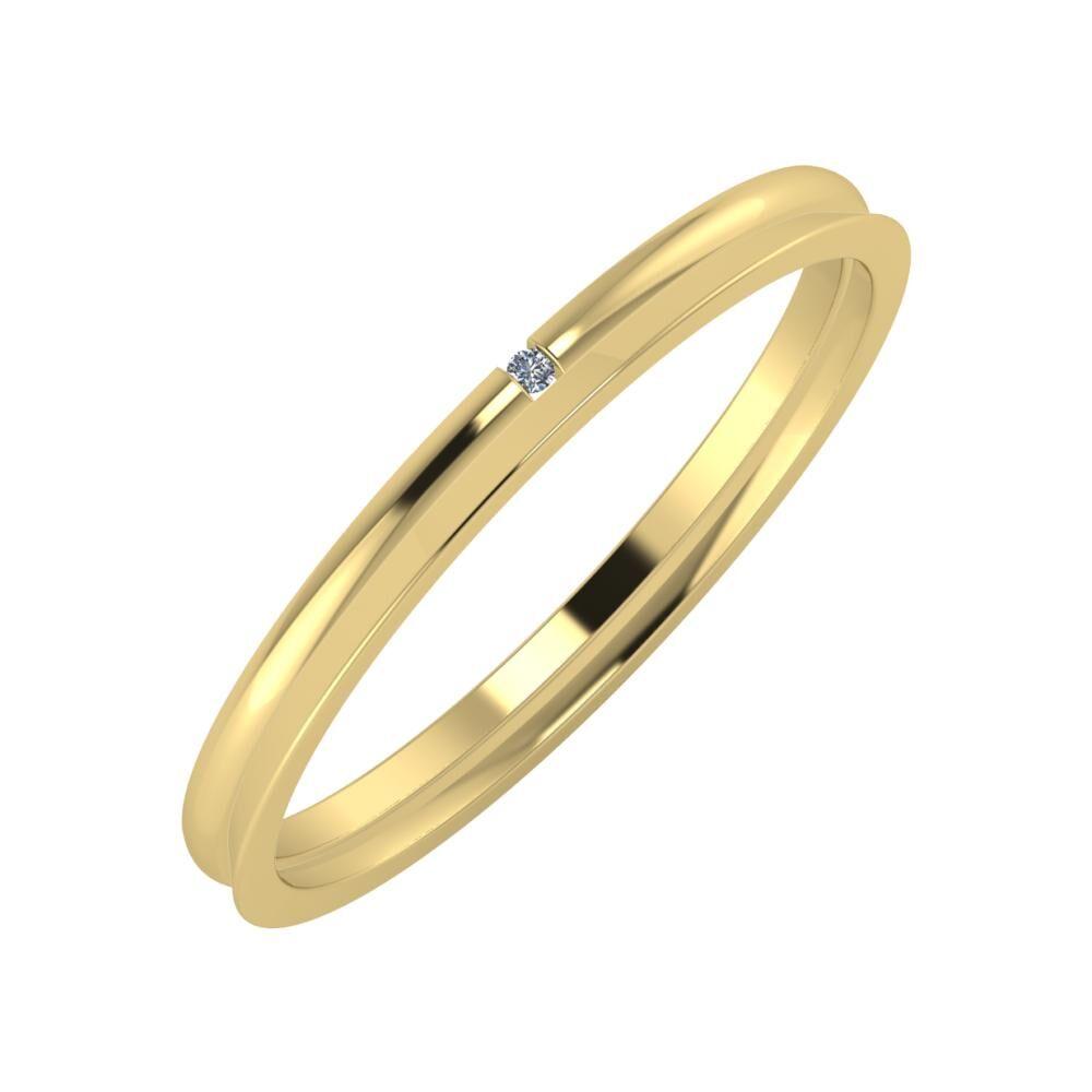 Adalind - Aisa 2mm 14 karátos sárga arany karikagyűrű