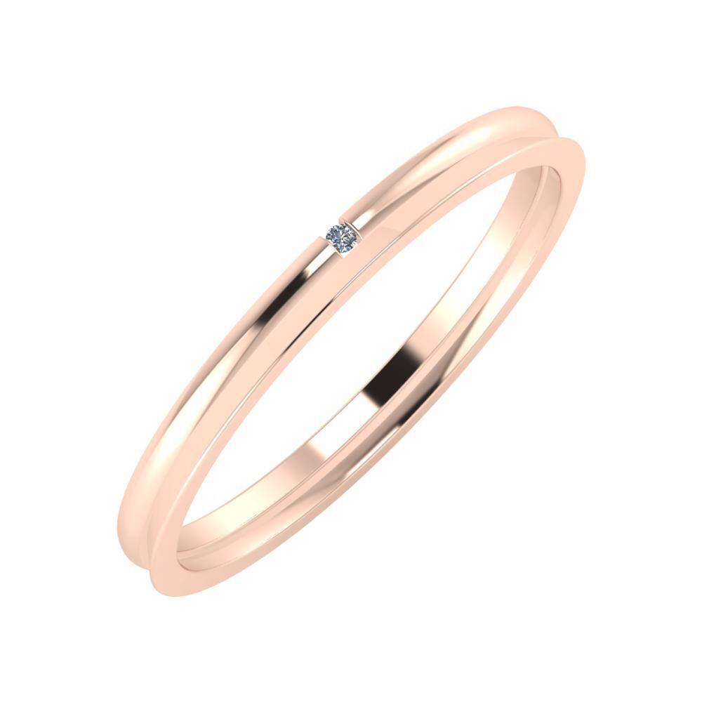 Adalind - Aisa 2mm 18 karátos rosé arany karikagyűrű
