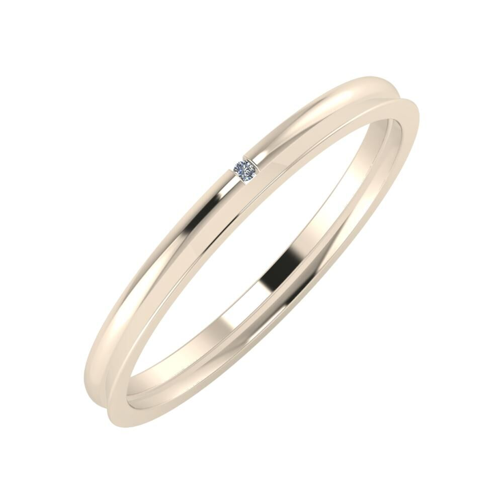 Adalind - Aisa 2mm 22 karátos rosé arany karikagyűrű