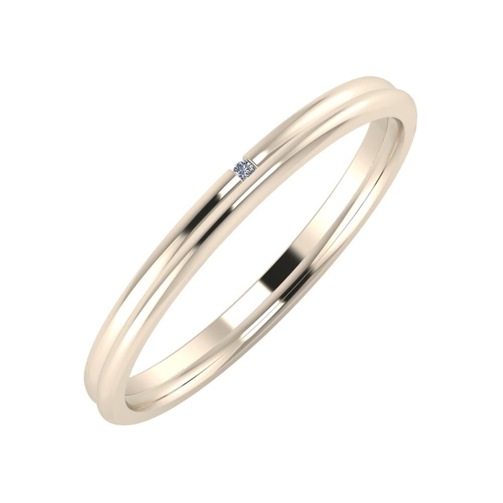 Adalind - Aletta 2mm 22 karátos rosé arany karikagyűrű