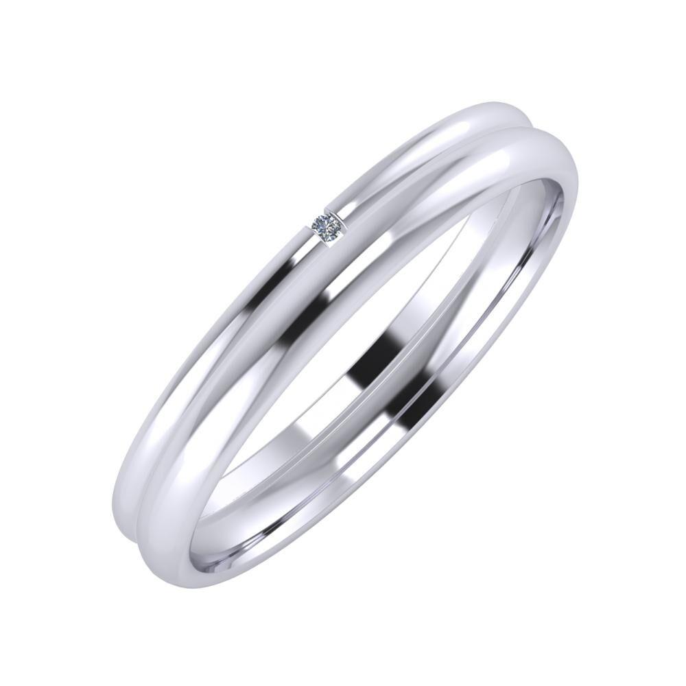 Adalind - Alexa 3mm platina karikagyűrű