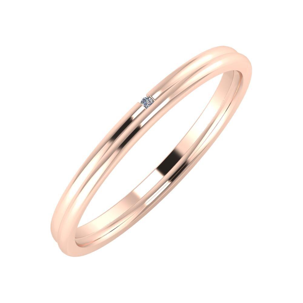 Adalind - Alexandra 2mm 18 karátos rosé arany karikagyűrű