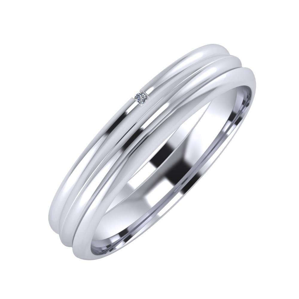 Adalind - Alexandrin 4mm platina karikagyűrű