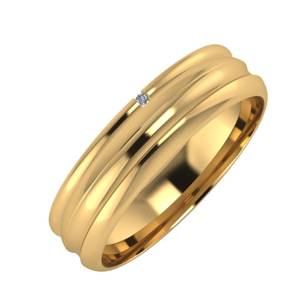 Adalind - Alexandrin 5mm 18 karátos sárga arany karikagyűrű