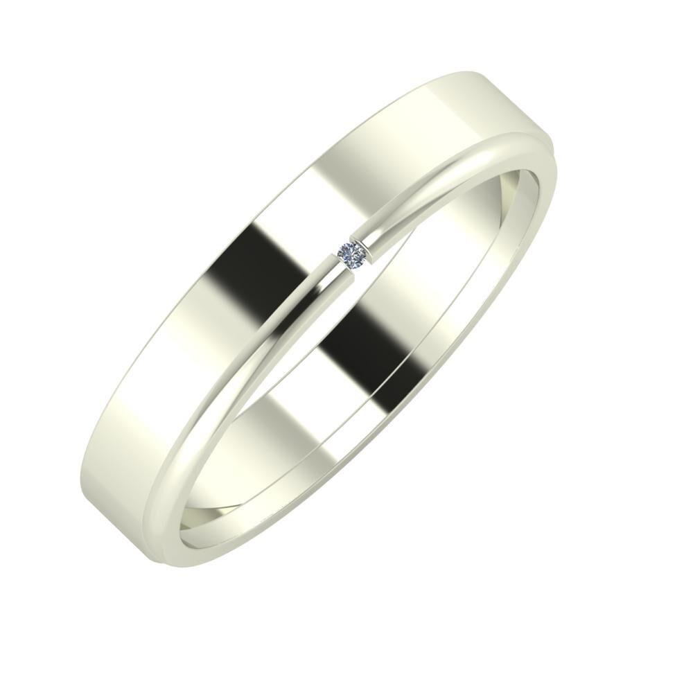 Adela - Adalind 4mm 18 karátos fehér arany karikagyűrű