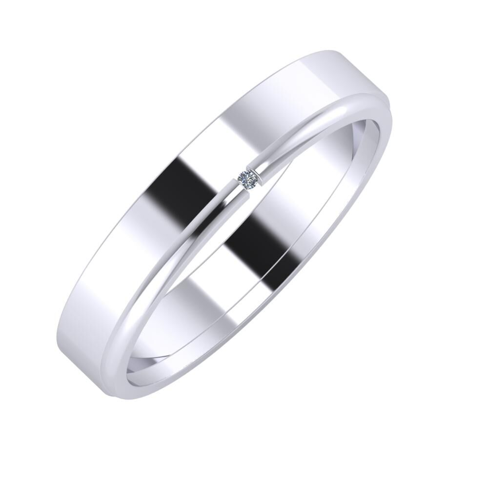 Adela - Adalind 4mm platina karikagyűrű