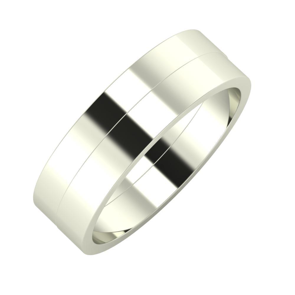 Adela - Adela 6mm 14 karátos fehér arany karikagyűrű