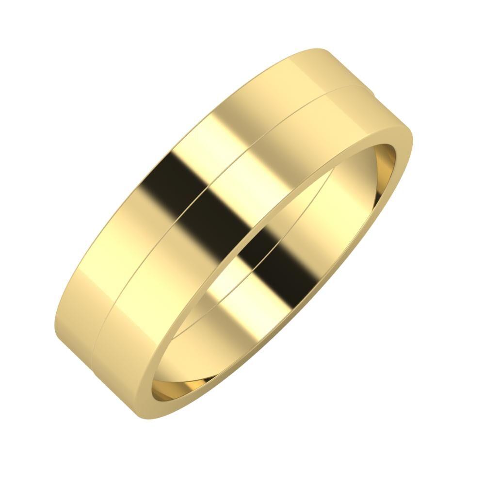 Adela - Adela 6mm 14 karátos sárga arany karikagyűrű