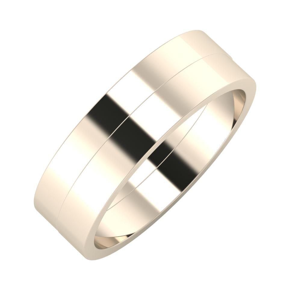 Adela - Adela 6mm 22 karátos rosé arany karikagyűrű