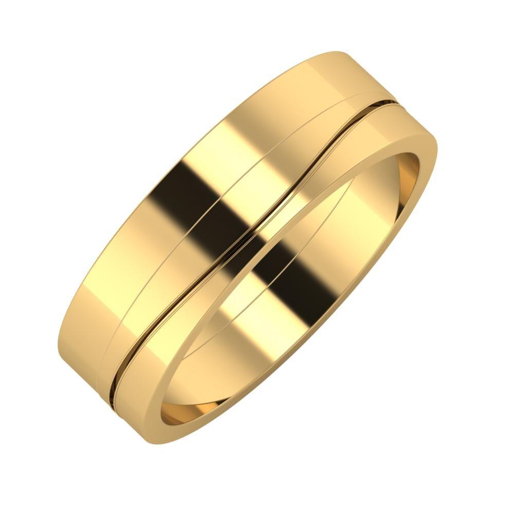 Adela - Adelinda 6mm 22 karátos sárga arany karikagyűrű