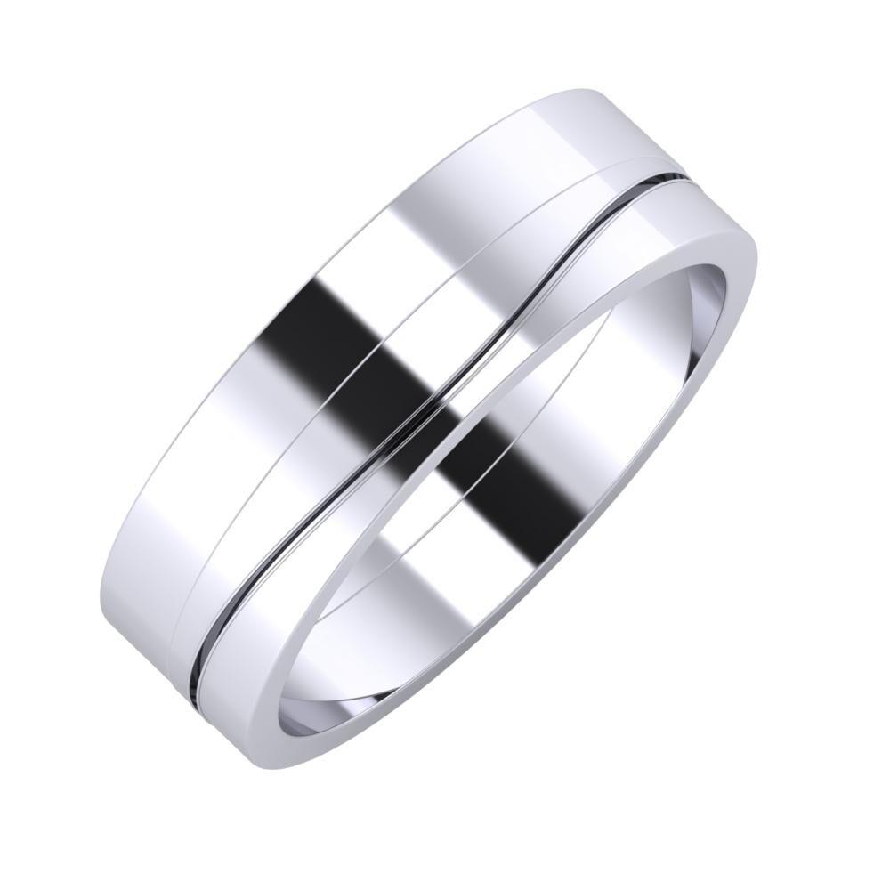 Adela - Adelinda 6mm platina karikagyűrű