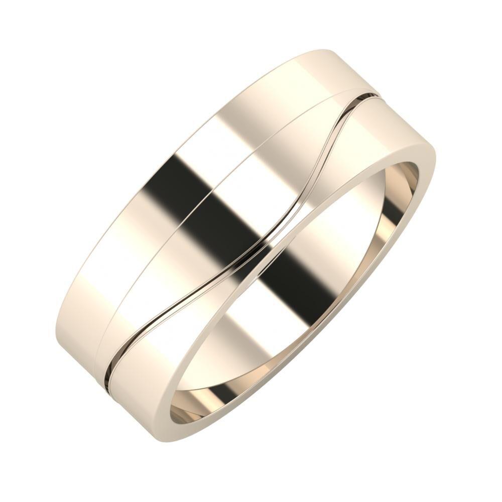 Adela - Adelinda 7mm 22 karátos rosé arany karikagyűrű