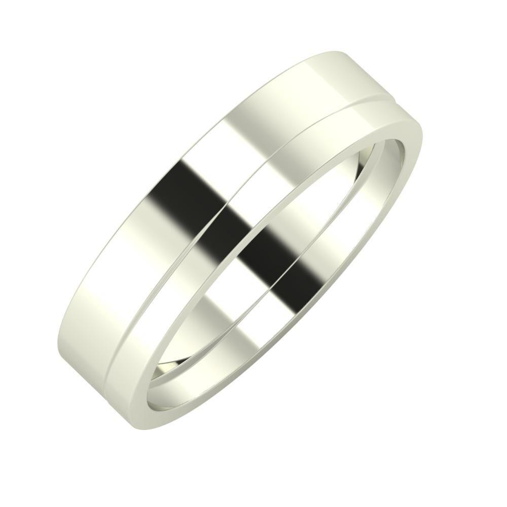 Adela - Adria 5mm 14 karátos fehér arany karikagyűrű