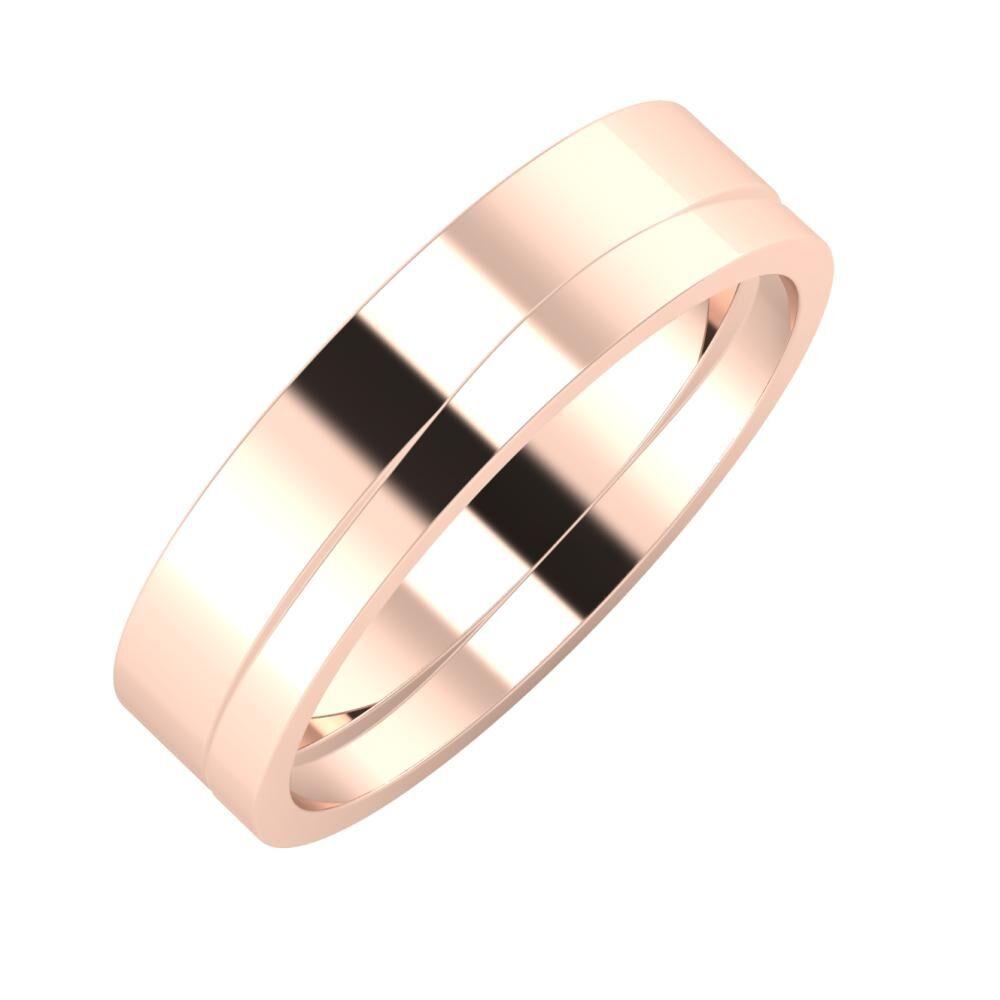 Adela - Adria 5mm 14 karátos rosé arany karikagyűrű