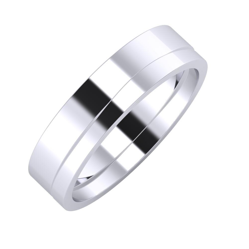 Adela - Adria 5mm platina karikagyűrű