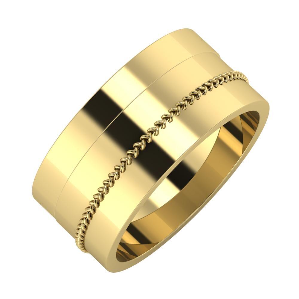 Adela - Áfonya 9mm 14 karátos sárga arany karikagyűrű