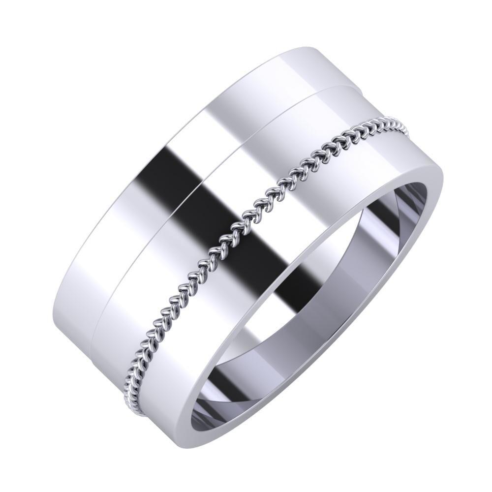 Adela - Áfonya 9mm platina karikagyűrű