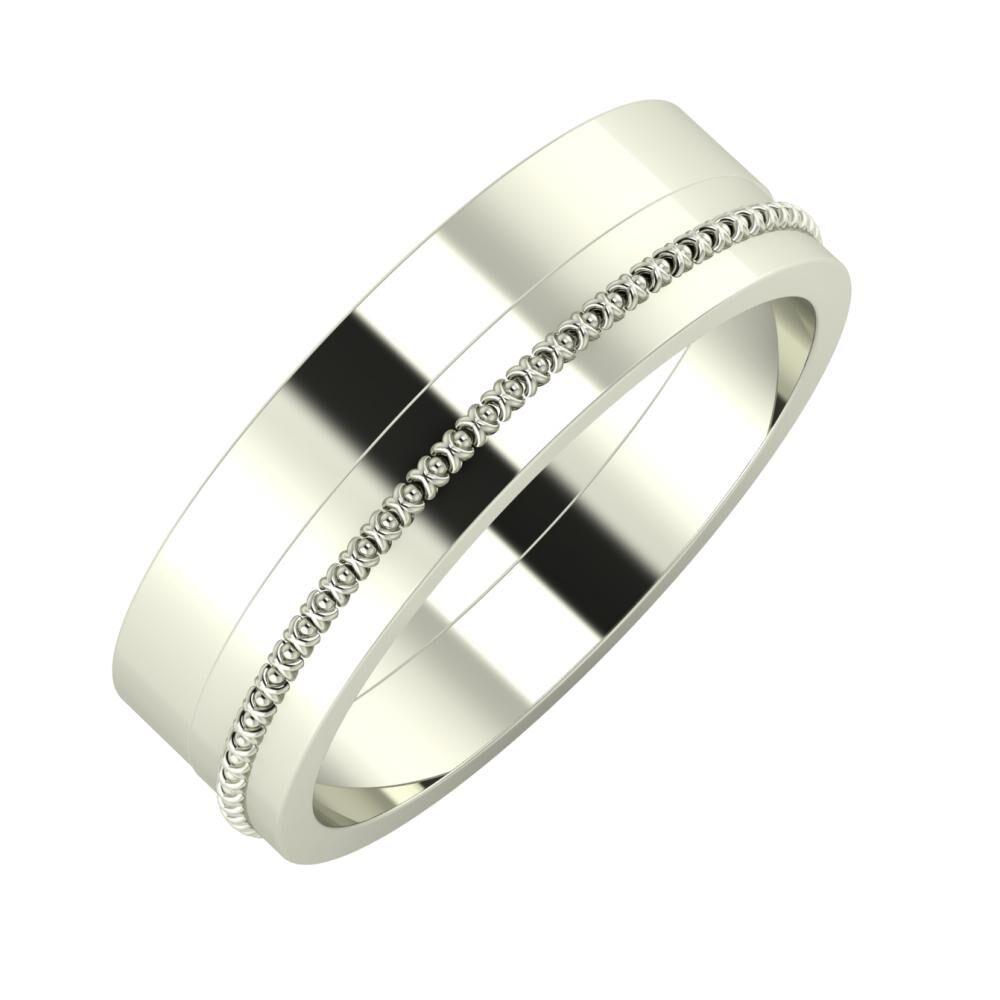 Adela - Afrodita 6mm 14 karátos fehér arany karikagyűrű