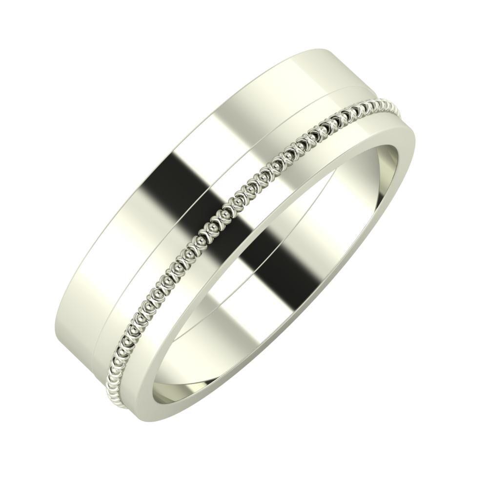 Adela - Afrodita 6mm 18 karátos fehér arany karikagyűrű
