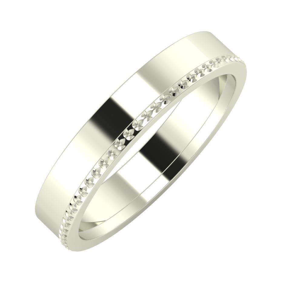 Adela - Ági 4mm 18 karátos fehér arany karikagyűrű