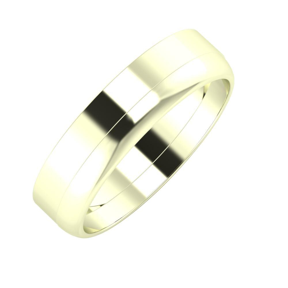 Adela - Ágosta 5mm 22 karátos fehér arany karikagyűrű