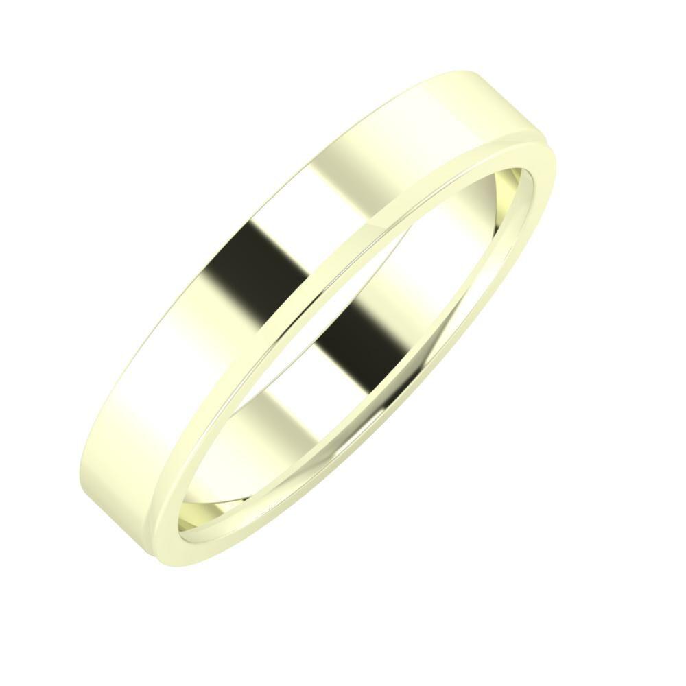 Adela - Aisa 4mm 22 karátos fehér arany karikagyűrű