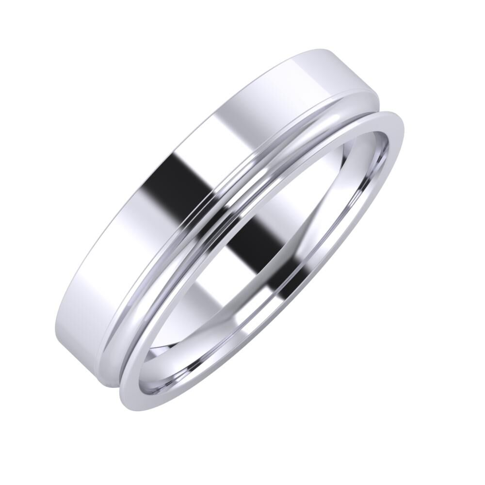 Adela - Alexandrina 5mm platina karikagyűrű