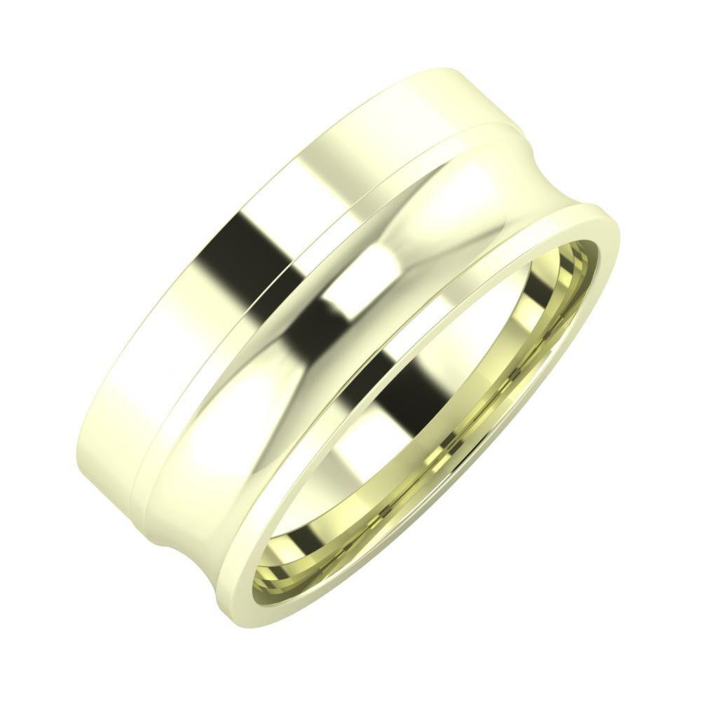 Adela - Alexandrina 8mm 22 karátos fehér arany karikagyűrű