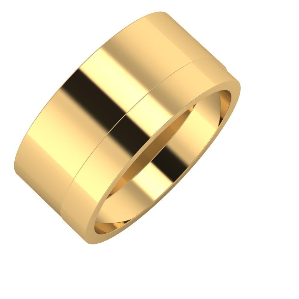Adela - Adela 10mm 18 karátos sárga arany karikagyűrű