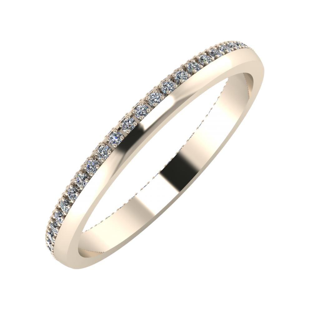 Alojzia 2mm 22 karátos rosé arany karikagyűrű