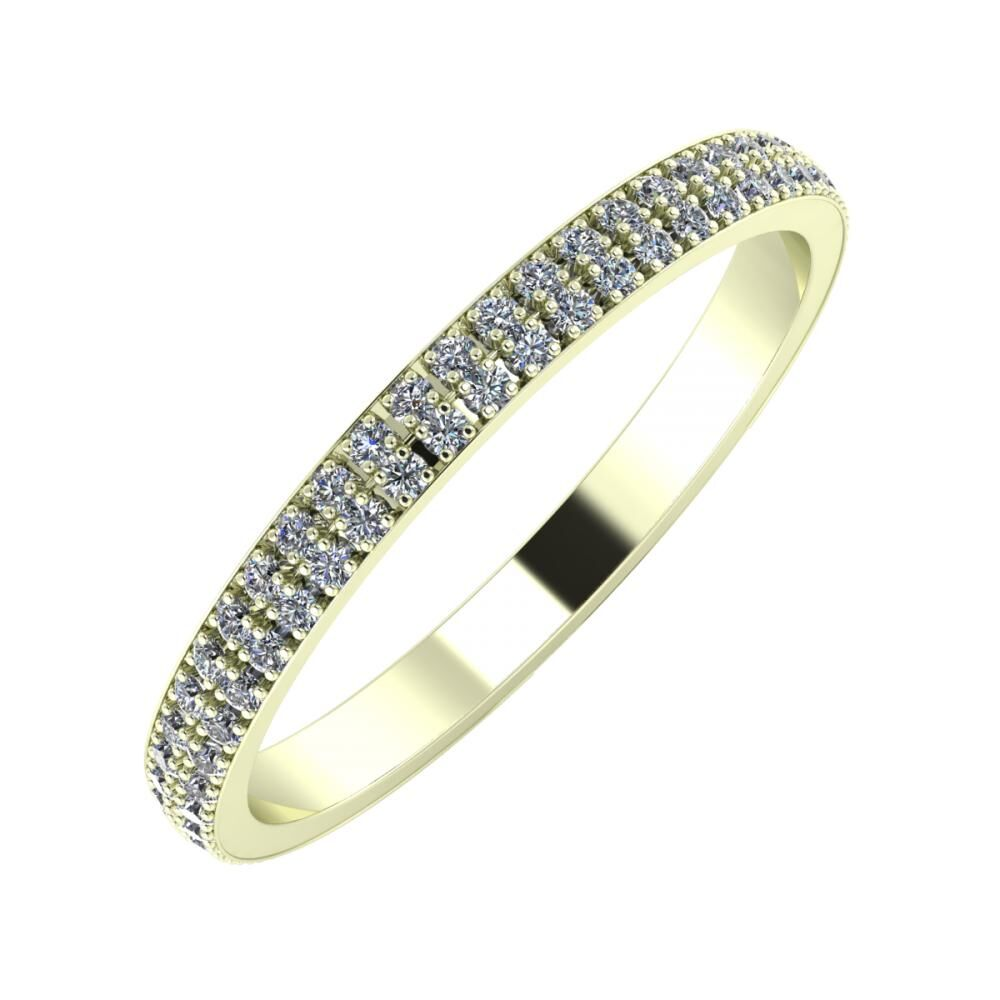 Alóma 2mm 22 karátos fehér arany karikagyűrű