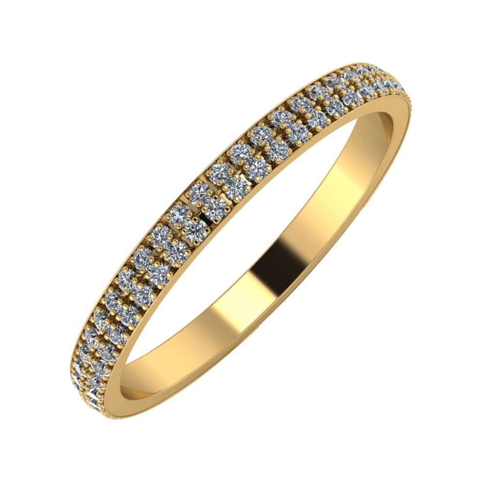 Alóma 2mm 18 karátos sárga arany karikagyűrű