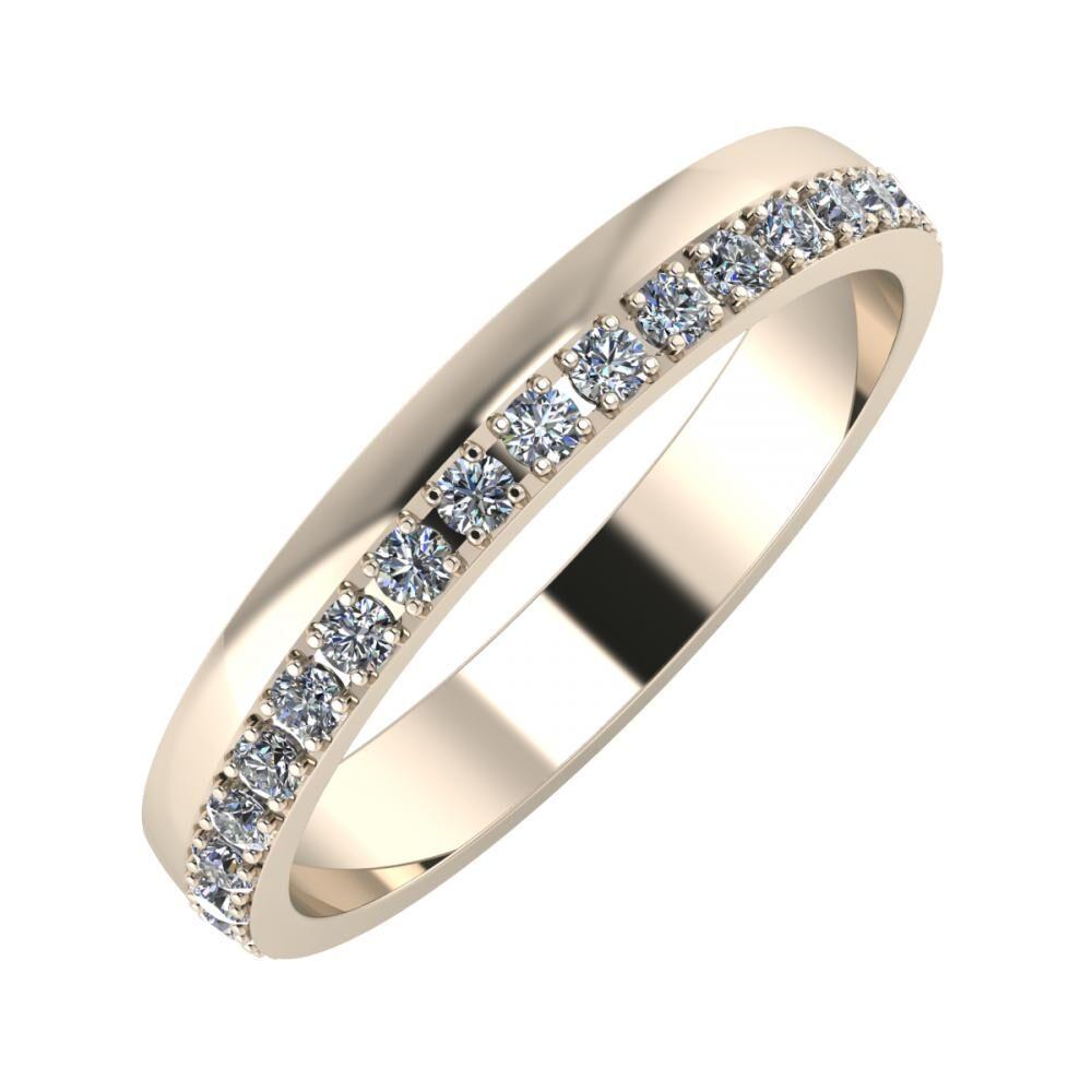 Ama 3mm 22 karátos rosé arany karikagyűrű