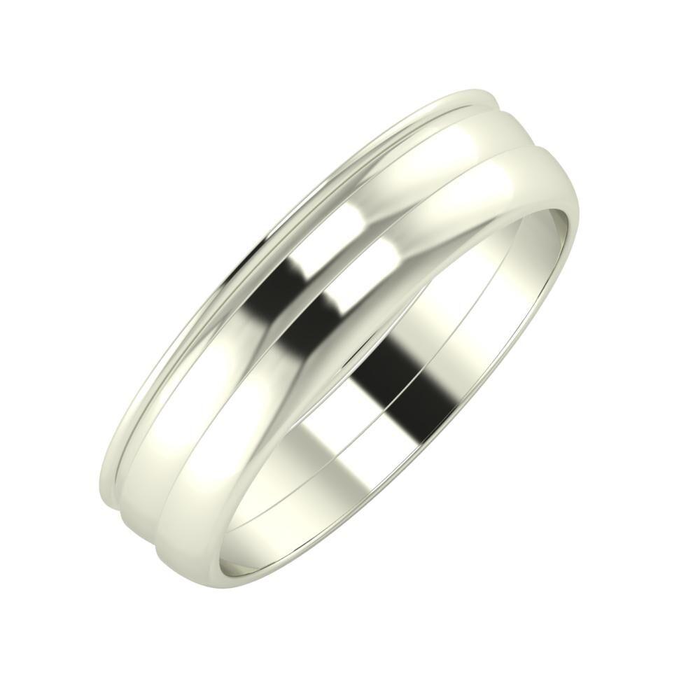 Agrippína - Ágosta - Ágosta 5mm 18 karátos fehér arany karikagyűrű