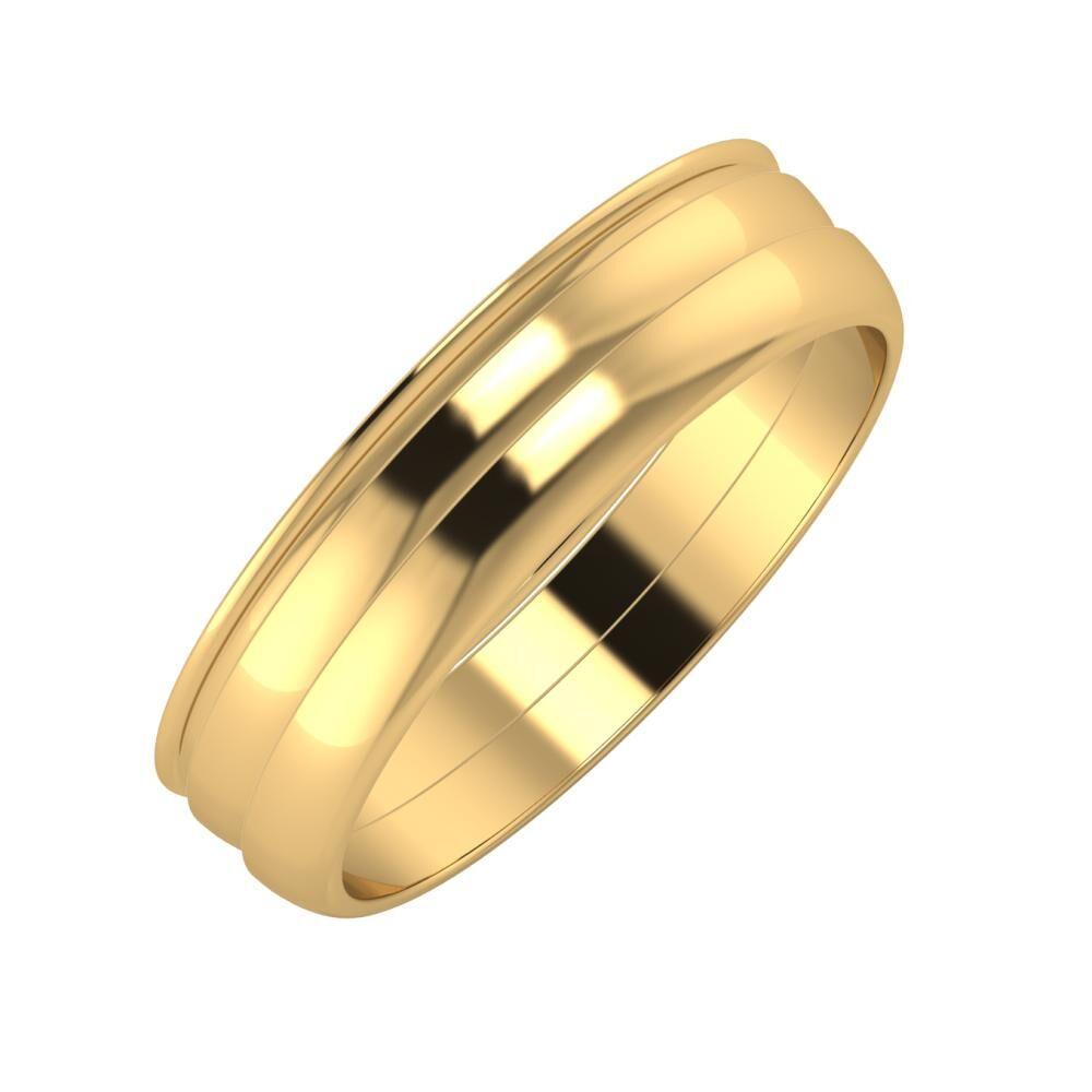 Agrippína - Ágosta - Ágosta 5mm 22 karátos sárga arany karikagyűrű