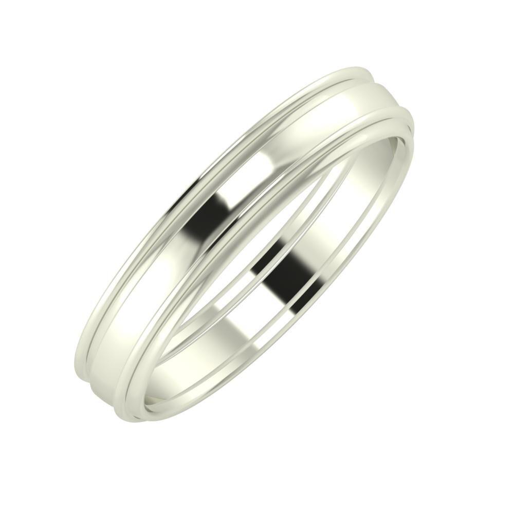 Agrippína - Ágosta - Agrippína 4mm 14 karátos fehér arany karikagyűrű