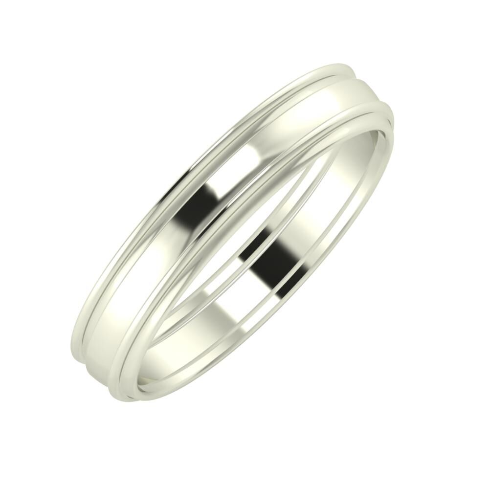 Agrippína - Ágosta - Agrippína 4mm 18 karátos fehér arany karikagyűrű
