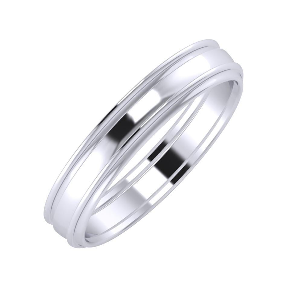 Agrippína - Ágosta - Agrippína 4mm platina karikagyűrű
