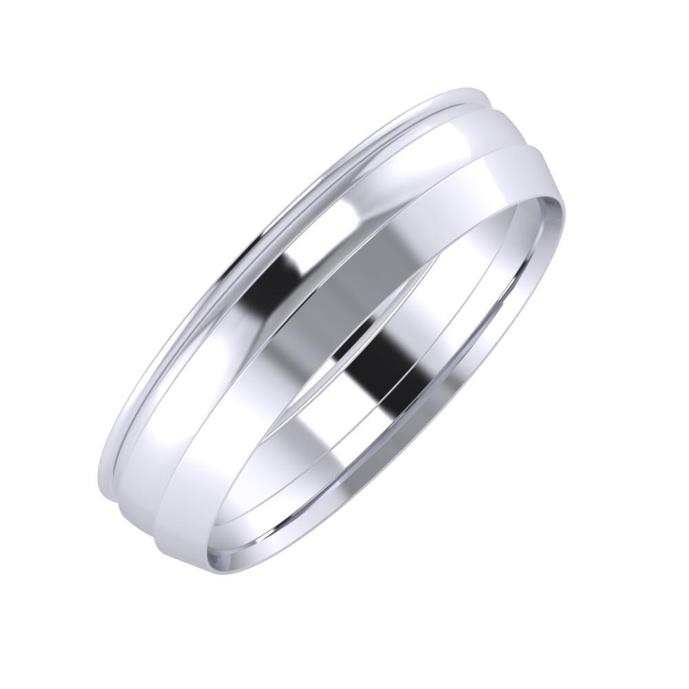 Agrippína - Ágosta - Aisah 5mm platina karikagyűrű