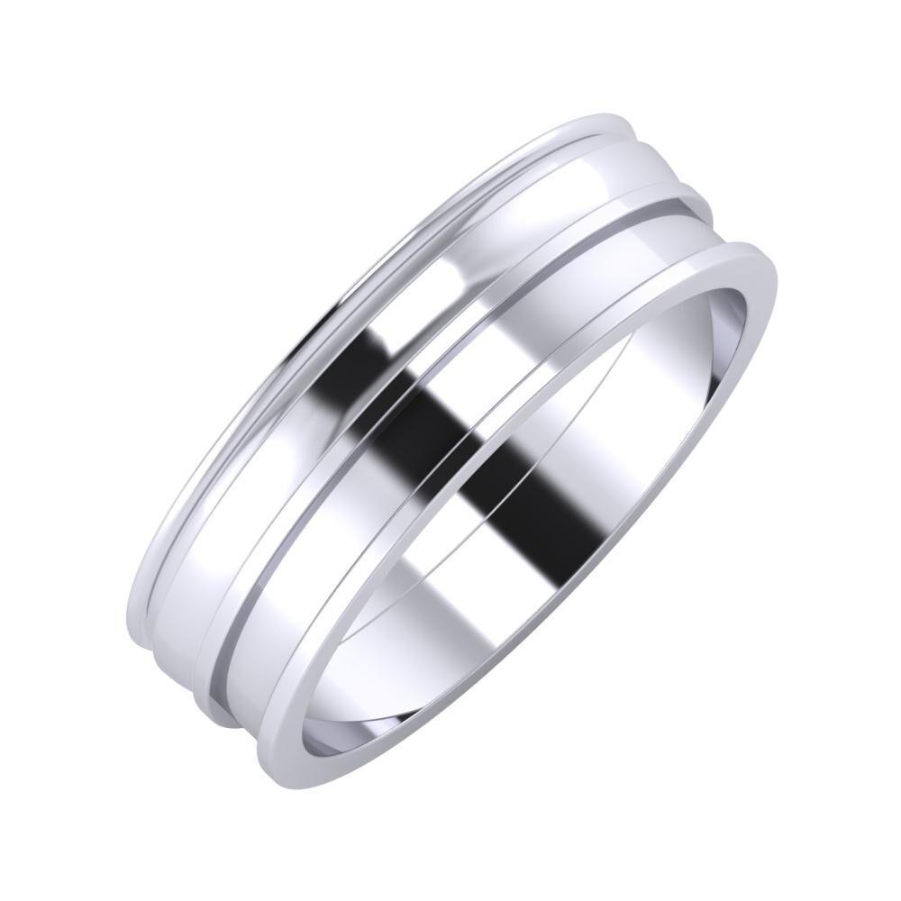 Agrippína - Ágosta - Ajnácska 6mm platina karikagyűrű