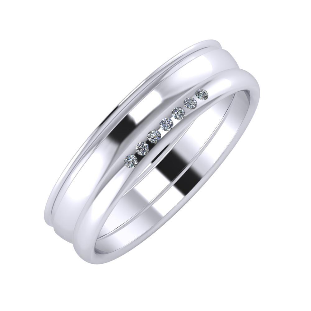 Agrippína - Ágosta - Albertina 5mm platina karikagyűrű